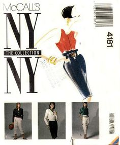 McCall's 4181 NY Collection Jacket Blouse by DawnsDesignBoutique Mccalls Patterns, Vintage Sewing Patterns, Ny Collection, Pattern Library, Top Stitching, Jackets, Stuff To Buy, Blouse, Etsy Store