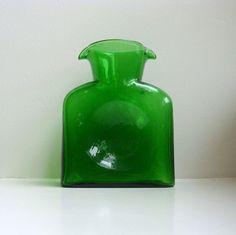 vintage blenko waterbottle.