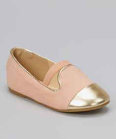 Look what I found on #zulily! Nude Metallic-Toe Lovely Flat by QQ Girl #zulilyfinds