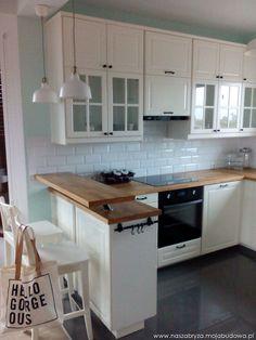 58 Small Kitchen Ideas That Will Inspire You - Home Decoration Experts Kitchen Room Design, Kitchen Sets, Open Plan Kitchen, Home Decor Kitchen, Interior Design Kitchen, New Kitchen, Home Kitchens, Apartment Interior, Kitchen Styling