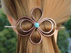 Celtic Hair Clip Hair Pin, Copper Hair Barrette Stick, Texture Hair Slide, Unique Hair Jewelry Metal Pin Hair Accessories Women Gift for Her Copper Hair, Gold Hair, Wire Jewelry Making, Wire Wrapped Jewelry, Hair Jewelry, Metal Jewelry, Celtic Knot Hair, Mermaid Jewelry, Metal Hair Clips