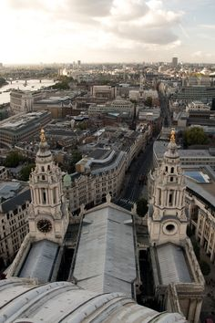 London, England- from the Dome of St. Paul's Cathedral... you can have the most delicious tea up here!