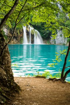 Plitvice Lakes National Park, Croatia . Looks like Hanging Lake in Gleenwood Springs !