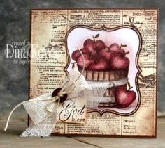 Impression Obsession Rubber Stamps Cover-a-Card Newsprint