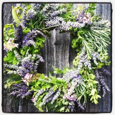 Lavender & Herb Wreath - Summer Classes offered at AKL Maui