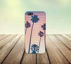 Retro California Palms Case for iPhone 5/5s, iPhone 5C, iPhone 4/4s, and Samsung Galaxy
