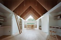 """Incredibly simplistic, wooden Japanese home designed """"for a young couple"""". [725 x 480] - Imgur"""
