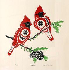 Silkscreen print by Glen Rabena from 1990 measuring x from an edition of Arte Tribal, Tribal Art, Native Art, Native American Art, Canadian Art, Canadian Tattoo, Native Canadian, Haida Art, Inuit Art
