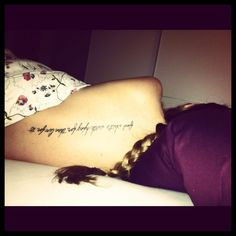 """My first one!! """"Find what's worth dying for and live for it!"""""""