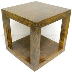 Mango Wood Cube Accent Table (Thailand) - Overstock™ Shopping - Top Rated Coffee, Sofa & End Tables Mango Wood Furniture, Brown Furniture, Modern Furniture, Sofa End Tables, Side Tables, Coffee Tables, Cube Table, Square Side Table, Cube Design