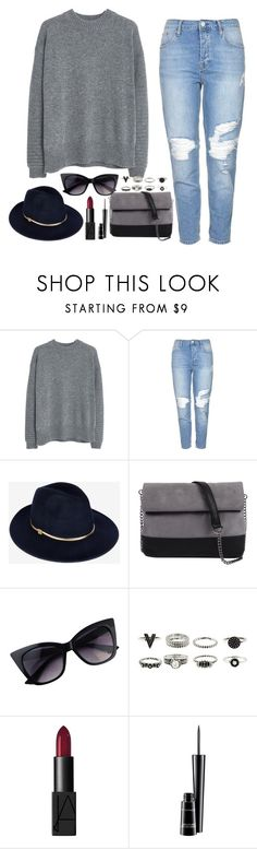 """""""Untitled #152"""" by xxstephersxx ❤ liked on Polyvore featuring MANGO, Topshop, Ted Baker, 7 Chi, NARS Cosmetics and MAC Cosmetics"""