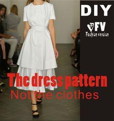 Одежда DIY платье Платья Швейные выкройки рисование женщин Платье Швейные Шаблон BLQ 84купить в магазине FV Garment pattern StoreнаAliExpress