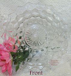 """Vintage Fostoria American Elegant Glass 8"""" Salad Plate"""