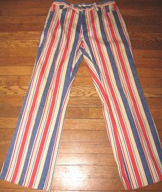 VTG 60s Stripe Flare Pants by FAROUTVINTAGE on Etsy, $39.50