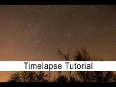 Here's a short and sweet tutorial on how you can create a time-lapse of the night sky using your DSLR.