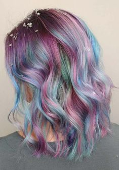 Pastel hair colors are in huge trends nowadays when we talk about the newest hai. - - Pastel hair colors are in huge trends nowadays when we talk about the newest hair colors to try. Hair Color Shades, Hair Color Purple, Hair Color For Black Hair, Cool Hair Color, Pastel Hair Colors, Pastel Shades, Colorful Hair, Pastel Colored Hair, Unicorn Hair Color