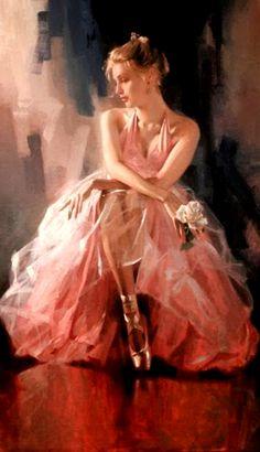 Art Original Oil painting Impressionism Portrait girl on canvas Art Ballet, Ballet Painting, Dress Painting, Dance Paintings, Woman Painting, Ballerina Kunst, Illustration Art, Illustrations, Beautiful Paintings