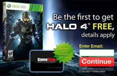 Free Gamestop Gift Card $250 and Halo 4 for Free