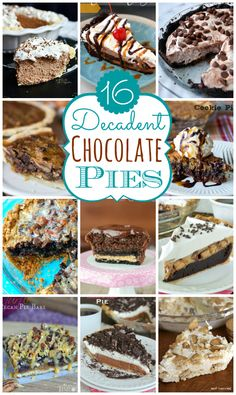 16 Decadent Chocolate Pies to satisfy your chocolate cravings! | MomOnTimeout.com