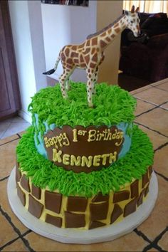 Kenneths 1st birthday Giraffe cake