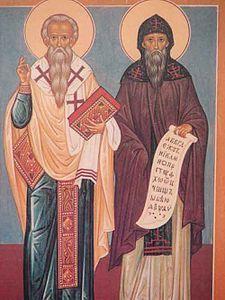 Icona raffigurante i santi Cirillo e Metodio.