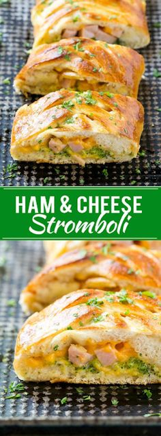how lose fat, the best diet to lose weight fast, lose neck fat - This stromboli recipe is tender dough stuffed with ham, cheese and broccoli, then baked to a golden brown. It's a 5 ingredient dinner that's ready in just 30 minutes! Leftover Ham Recipes, Leftovers Recipes, Easy Dinner Recipes, Easy Meals, Easy Recipes, Dinner Ideas, Ham And Cheese Stromboli Recipe, Chicken Stromboli Recipe Easy, Calzone Recipe