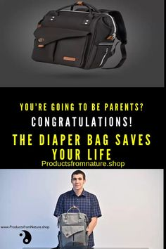 Diaper Bags for Dads Best Gift for Parents - Diaper Backpack A Diaper Bag is one of those pieces you Good Gifts For Parents, New Parents, Dad Diaper Bag, Diaper Bag Backpack, Diaper Bag Essentials, Travel Essentials, Diaper Organization, Anti Theft Backpack, Baby Massage