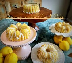 These lusciously dense, moist Lemon Bundt cakes are one of my most requested recipes. With intense, over-the-top lemon flavor, and tangy fresh lemon citrus glaze, how can they not be? You'll definitely smell summer in the air with the aroma of this cake baking in your kitchen. The recipe is easy, and the presentation is breathtaking when I use my Nordic Ware Quartet Bundt Pan!   #mysweettoothbakery #nordicware #bundtcakes #lemonbundtcake Lemon Bundt Cake, Bundt Cakes, Lemony Lemon, Caking It Up, Nordic Ware, Cake Baking, Latest Recipe, How To Squeeze Lemons, Cake Flour