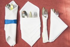 How to Fold Cutlery Into a Napkin (with Pictures)