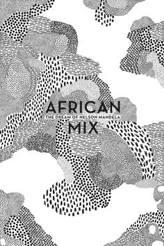 Elise Hannebicque, African mix, 2014 -- black and white pattern mixing, hand drawn, book cover?