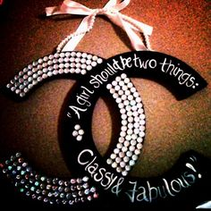 Cute Chanel room decoration or with any letter would be cute