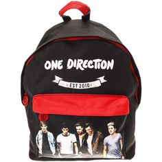 One Direction Large Backpack ($29) ❤ liked on Polyvore featuring bags, backpacks, one direction, padded bag, knapsack bag, handle bag, rucksack bags and daypack bag