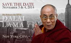 HH the Dalai Lama to visit NYC at the  Beacon Theater on November 3rd and 4th, 2014. Click through for more details.
