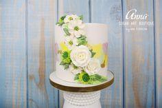 Serenity... Buttercream Flowers - Cake by Anna Sugar Art Boutique