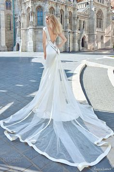 galia lahav fall 2016 bridal cap sleeve illusion boat neckline embellished neck cutout trumpet wedding dress / http://www.himisspuff.com/open-back-wedding-dresses/