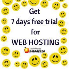 Get 7 days free trial for #Web #Hosting .  visit : https://goo.gl/52I0AZ