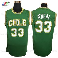 Cheap basketball jersey stitched, Buy Quality basketball jersey shaquille oneal directly from China shaquille oneal Suppliers: 2017 Dwayne Mens Shaq O'NEAL Basketball Jerseys Shaquille Oneal 33 COLE High School Basketball Jersey Stitched Shirts Green