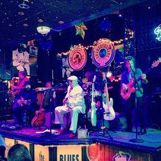 Bourbon Street Blues and Boogie Bar - http://www.bourbonstreetblues.com/  Amazing house blues band. Cajun cuisine. Printer's Alley.