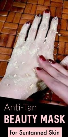 Anti-Tan Beauty Masks For Suntanned Skin That You Can Prepare At Home. Image Credits- Youtube #suntan #tanning #skinwhitening #skinwhiteningtips #skinwhiteningdiy #fairskin #skincare #selfcarebeautytips Sun Tan Removal, Hair Removal Cream, Diy Beauty, Beauty Skin, Beauty Makeup, Beauty Tips, Beauty Products, Beauty Hacks, Body Polishing At Home
