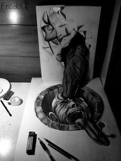 3D drawings, by Fredo