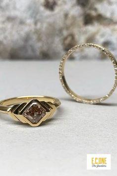 Warm Colour Palette, Bespoke Jewellery, Autumn Wedding, Wedding Bands, Gold Rings, Fine Jewelry, Art Deco, Jewelry Design, Metallic