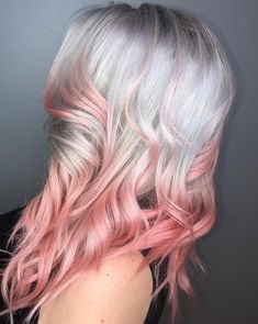 We love @hairbydini's muted soft pink balyage using SUSHI #UnicornHair 🌸