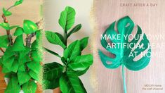 Fake Plants, Artificial Plants, Adventure Bible, Make Your Own, Plant Leaves, The Creator, Diy Projects, Crafty, Youtube