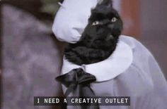 tumblr lmgxt2j71o1qzr1rw A few of the greatest things Salem the cat ever said (34 pics)