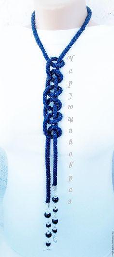 Лариат или жгут-трансформер и как его носить. Жгут из бисера. - Ярмарка Мастеров - ручная работа, handmade