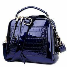 LUYO Crocodile Grain Patent Leather Trunk Crossbody Bags For Women Shoulder  Sequin Bag Ladies Handbags Bolsa Feminina Sac A Main cb2e43b2de240