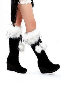7819fdffdd7e7 Get rid of the tassels and they re perfect. Boot WedgesWedge BootsWedge HeelsFur  BootsSnow BootsWinter ShoesEveryday ...