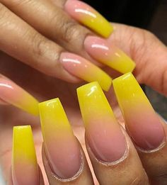 for more ρoρρin pins❕ green nails, yellow nails design Yellow Nails Design, Yellow Nail Art, Green Nails, Trendy Nails, Cute Nails, My Nails, Drip Nails, Stylish Nails, Ombre Braids