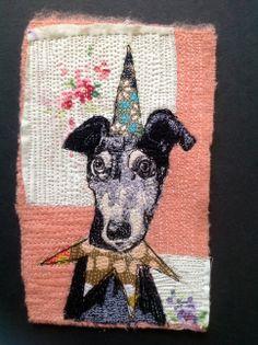 Party Lurcher Embroidery #1 : mrsbertimus.blogspot.com
