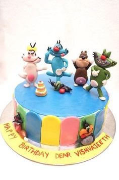 Oggy and the cockroaches - Cake by Sushma Rajan- Cake Affairs
